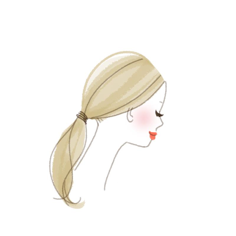 まとめ髪プロセス 髪全体をバックでゆるくまとめる