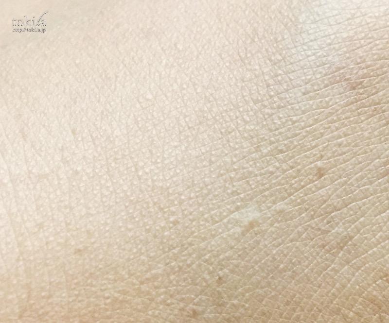 ランコム タンミラク コンパクト 手の甲にも塗った表面・拡大