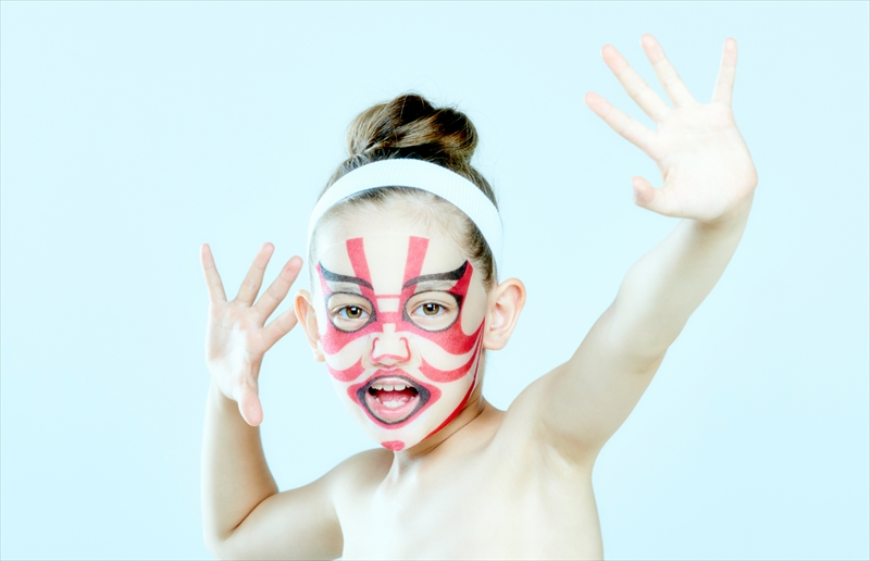 一心堂本舗 世界初の子供用パック 子供 歌舞伎フェイスパック 暫