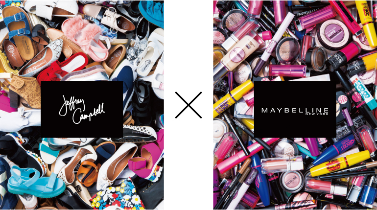 MAYBELLINE NEW YORK x JEFFREY CAMPBELL広告写真