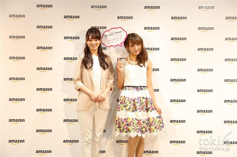Amazonビューティーストアゲスト菅野結以さん小西さやかさん写真撮影