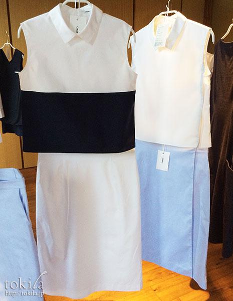 caart. ノースリーブシャツとラップスカート展示品