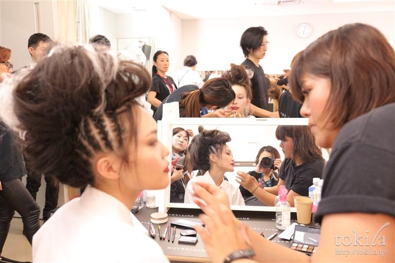 ファッション・ウィーク東京2015 YOSHIKIMONO(ヨシキモノメイベリンヘアメイクバックステージ4