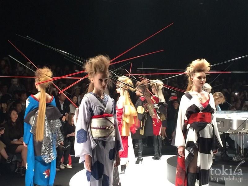 ファッション・ウィーク東京2015 メイベリンヘアメイクヨシキモノコレクション本番6