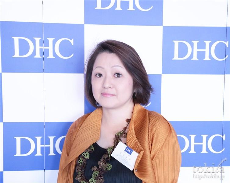 DHC DHC GE パワーセラム発表会 マーケティング一部 次長の渡辺晶子氏