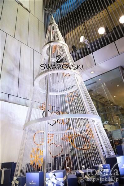スワロフスキー クリスマス点灯式 クリスマスツリー