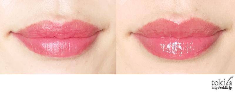2016年春新色 ルナソル カラーリング ダブルカラーリングリップス02を塗った唇