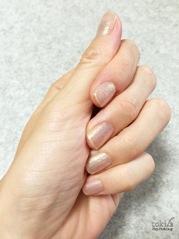 2016年春新色 ルナソル ネイルフィニッシュN EX42 塗った爪1