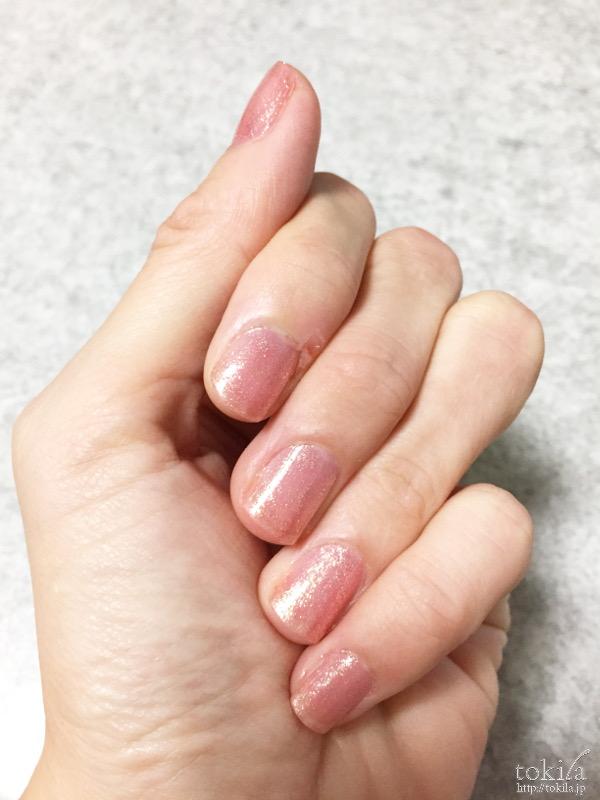 2016年春新色 ルナソル ネイルフィニッシュN EX43 塗った爪