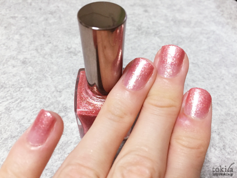 2016年春新色 ルナソル ネイルフィニッシュN EX43 塗った爪3