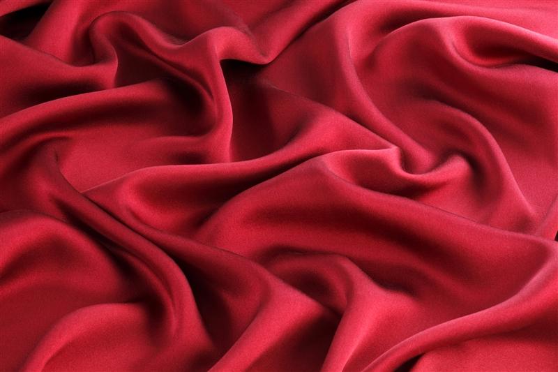 赤いシルク 素材