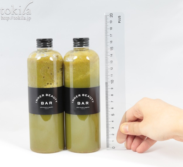 john masters organics TOKYO 1day グリーンスムージークレンズプログラム コールドプレスジュース大きさ