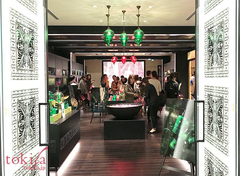 スパセイロン銀座店プレス内覧会-入口の画像