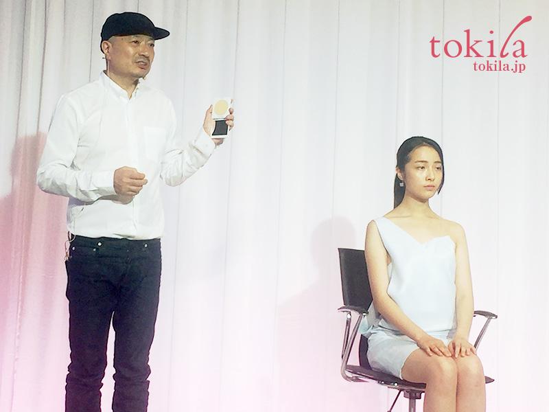 キッカ2017春コレクション-吉川氏とモデルさんのデモンストレーション画像