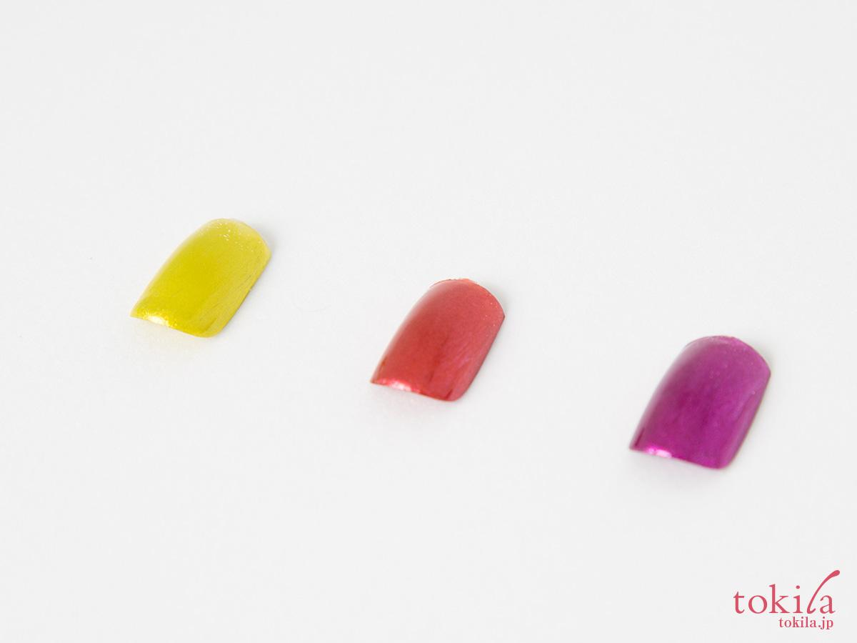 クリスチャン ルブタン ネイルカラー ルビクローム1、2、3全3色をチップで試した画像