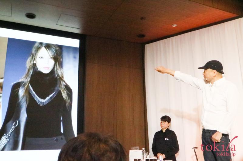 キッカ2017AW発表会にて吉川氏が秋冬のファッションについて語っている画像