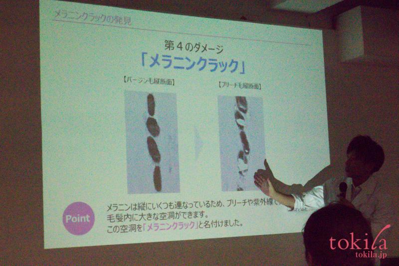 デミコスメティクス フローディア 発表会 メラニンクラックの説明スライド2