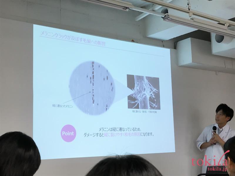 デミコスメティクス フローディア 発表会メラニンクラックの説明スライド3