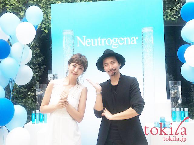 ニュートロジーナ新商品発表会 モデルさんと久保さんの2ショット
