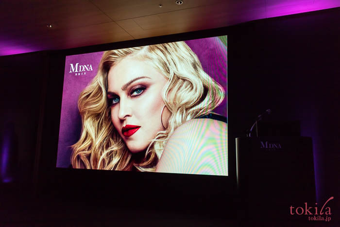 MDNA SKIN 発表会マドンナのスライド画像