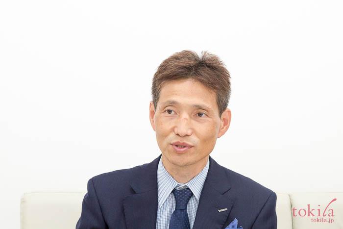 キャラバンのため来社されたバスクリン広報の石川泰弘さん
