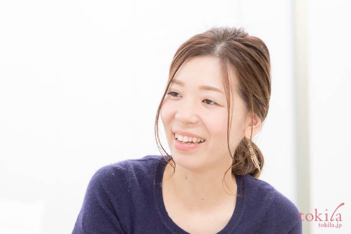 キャラバンのため来社されたビューティーエクスペリエンス広報の坂口奈那さん