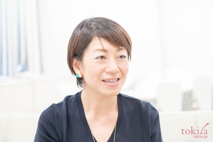 キャラバンのため来社されたボディショップ PR穐田菜花さん