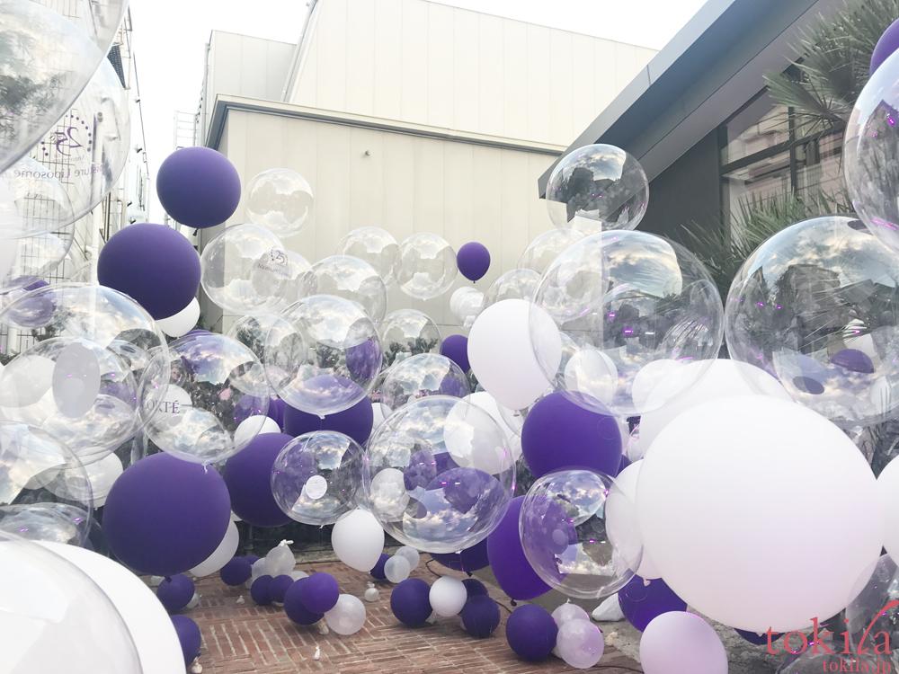 コスメデコルテ モイスチャ リポソーム 誕生25周年 プレスレヴュ 風船で囲まれた会場