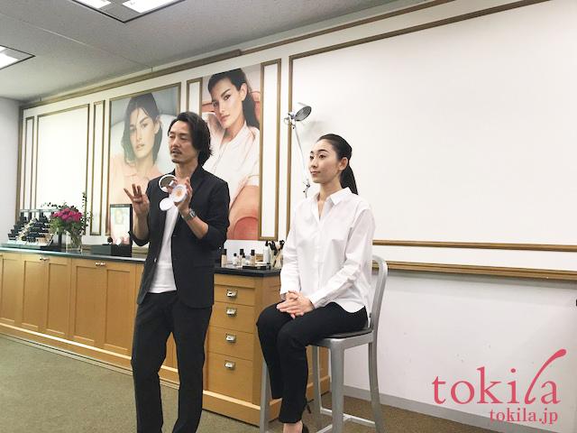 ボビイ ブラウン2018SS 新商品発表会 メイクデモンストレーション2