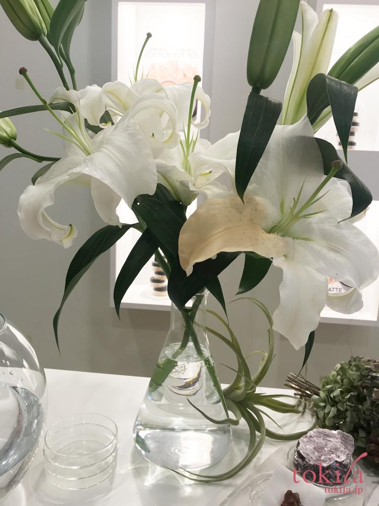 ベアミネラル オリジナルファンデーションを塗った百合の花