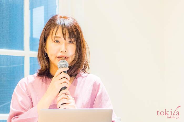 エトヴォス2018ss発表会 尾川ひふみ社長