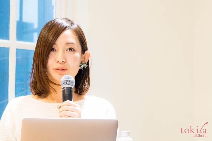 エトヴォス2018ss発表会 商品企画マネージャー山澤令佳さん