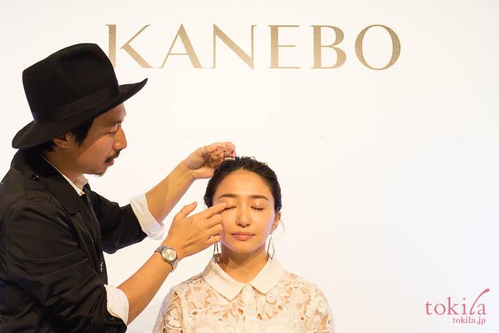 KANEBO 2018春夏 新商品発表会久保雄司さんのメイクデモンストレーション画像