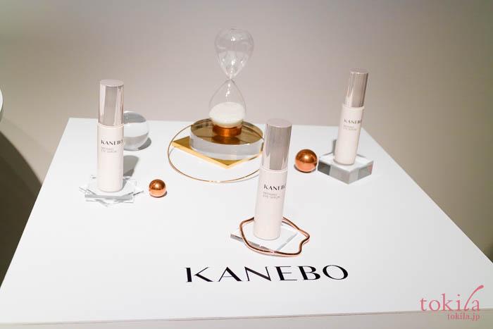 KANEBO 2018春夏 新商品発表会アイセラムのディスプレイ