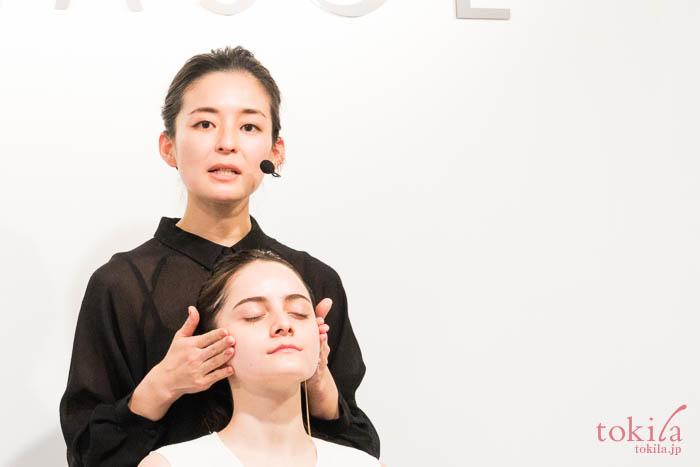ルナソル 2018新作ファンデーション発表会 メイクデモ3
