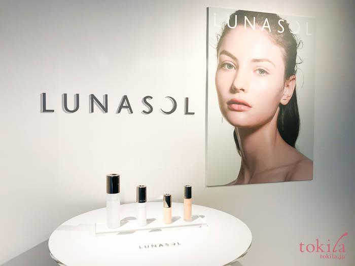 ルナソル 2018新作ファンデーション ディスプレイとイメージビジュアル