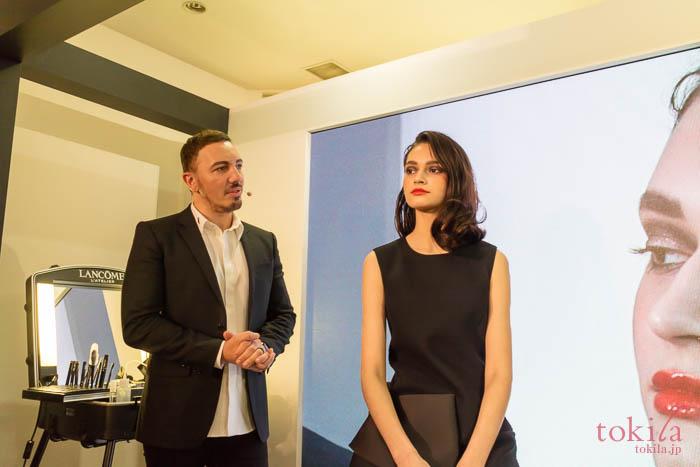 ランコム 2018新商品発表会グラマラスのメイクを施したモデルさん