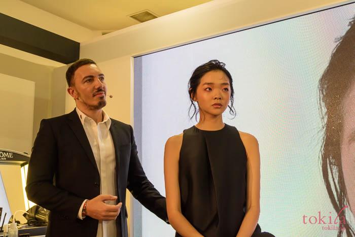 ランコム 2018新商品発表会クレイジーのメイクを施したモデルさん