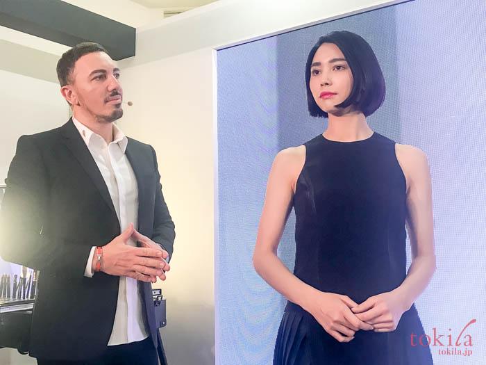 ランコム 2018新商品発表会 ナチュラルメイクを施したモデルさん
