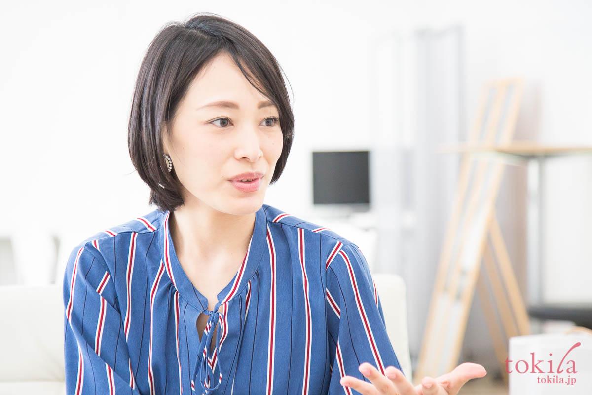 キャラバンのため来社された花王 広報の金馬由季さん