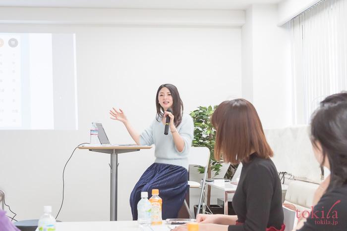 tokilaメンバーの肌トラブルに関する質問に答える濱田文恵さん