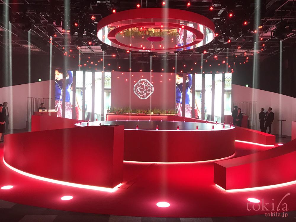 SHISEIDO アルティミューンリニューアル世界同日イベント会場内部