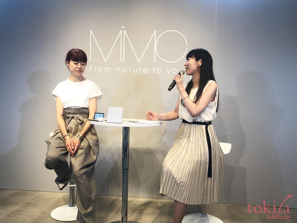 mimc2018aw新商品発表会北島さんとMICHIRUさんのトークショー