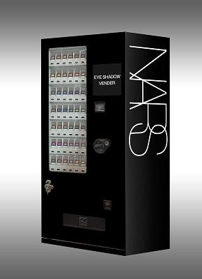 NARSオリジナルのアイシャドー自動販売機