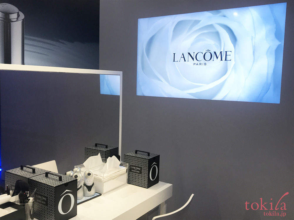 ランコムポップアップストア2階超音波ブースターサービス