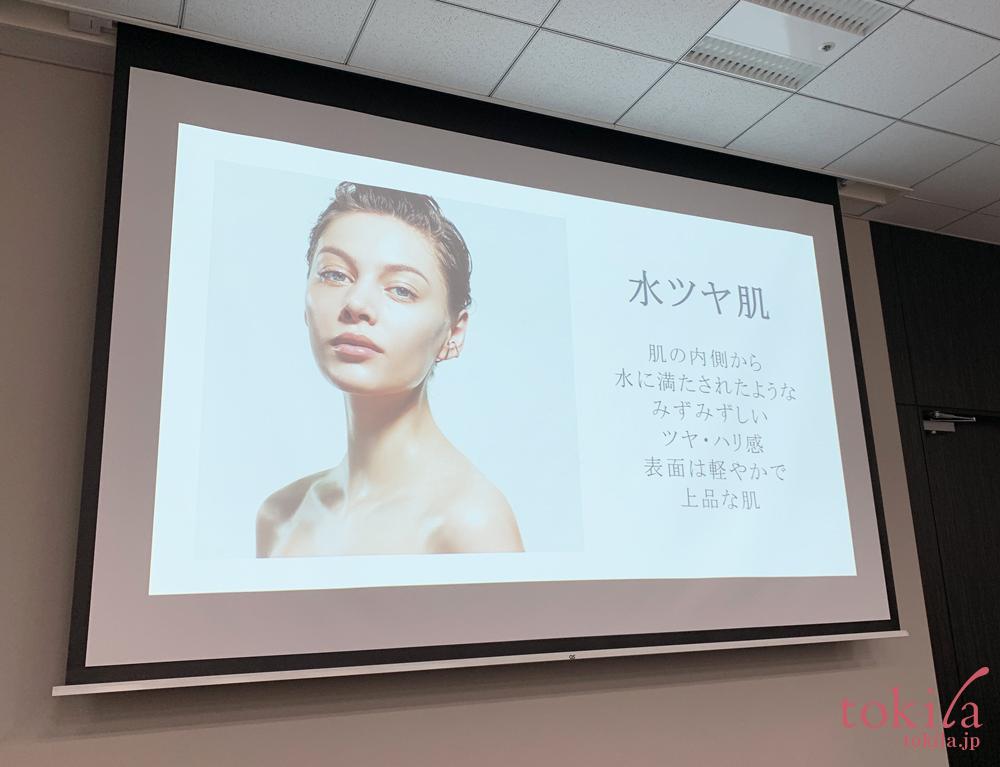 ルナソル 2019ss ルナソルが提唱する水ツヤ肌のイメージスライド画像