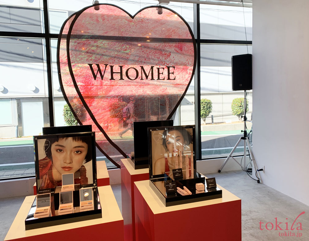whomee2019ss シーズン3発表会新商品ディスプレイ