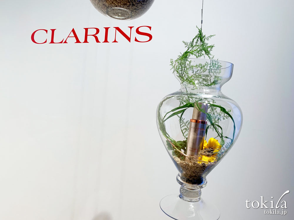 クラランス vコントアセラム新商品発表会 ディスプレイ