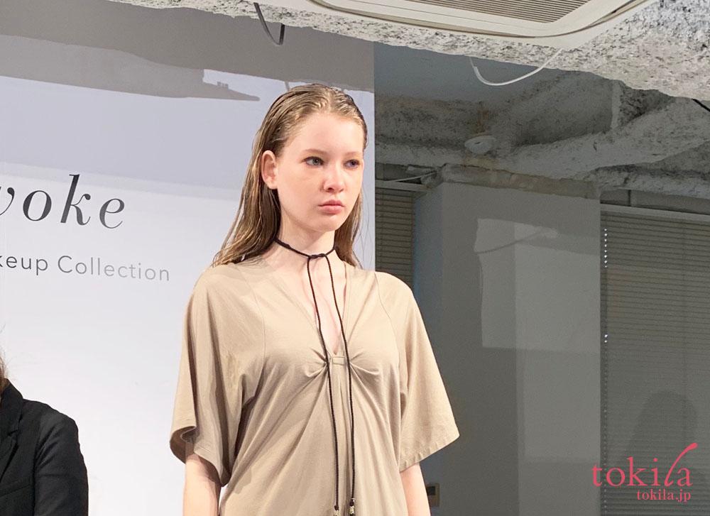 セルヴォーク2019aw新商品発表会菊池美香子さんによるメイクデモ3
