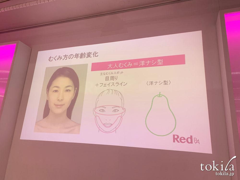 red b.a発表会 大人むくみ 洋ナシ型